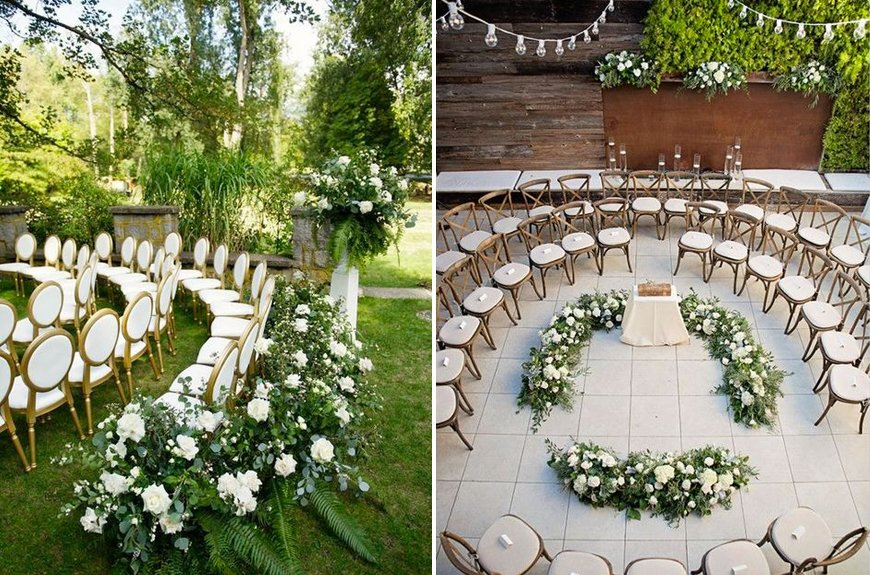 Must-See Outdoor Wedding Ideas - Circular outdoor ceremony seating | CHWV