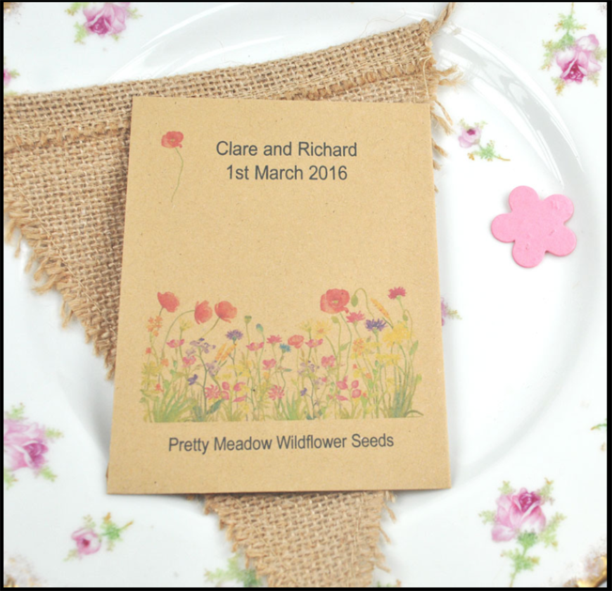 Eco-Friendly Wedding Favours - Seed packets | CHWV