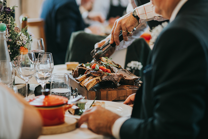 13 Ways To Have a Relaxed Wedding Day - Couture comfort food | CHWV