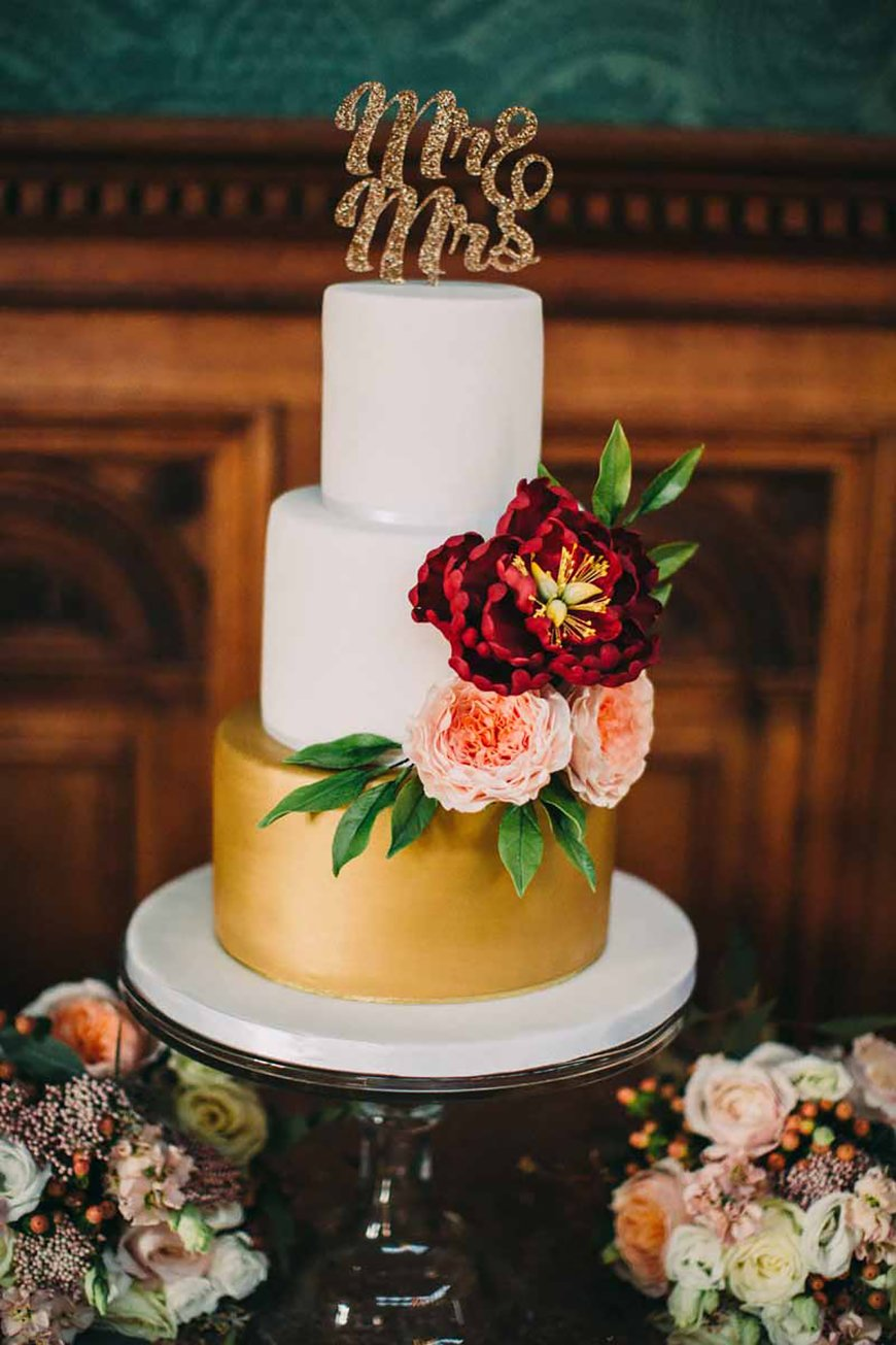 Creating an Amazing Autumnal Wedding Theme - All about the cake | CHWV