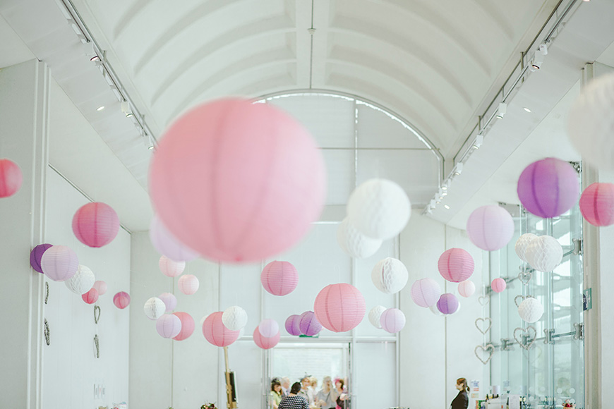 Colourful Wedding Ideas To Fall In Love With - Ceiling deorations | CHWV