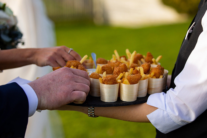 Exciting Evening Wedding Food Ideas - Fish and Chips | CHWV