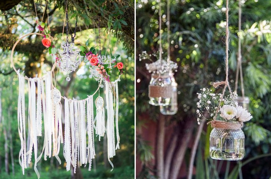 Must-See Outdoor Wedding Ideas - Tree decorations | CHWV