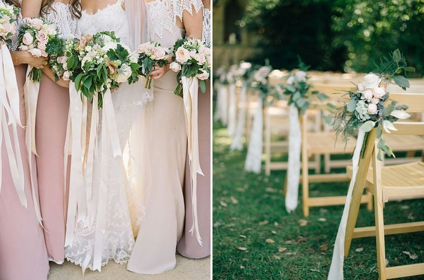 Must-See Outdoor Wedding Ideas - Ribbon decorations | CHWV