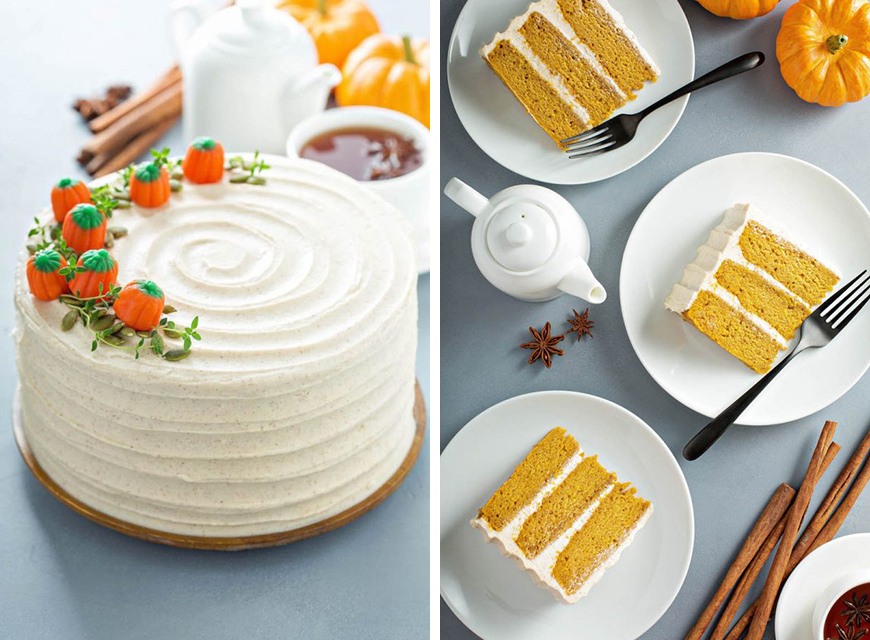 Wedding ideas by colour: Autumnal wedding cakes   CHWV