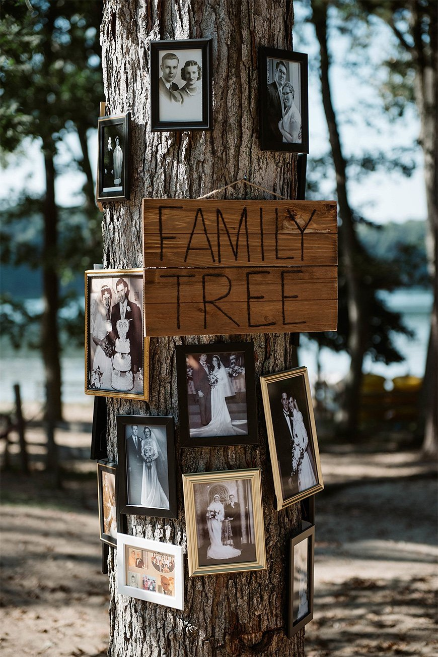 Must-See Outdoor Wedding Ideas - Family tree | CHWV