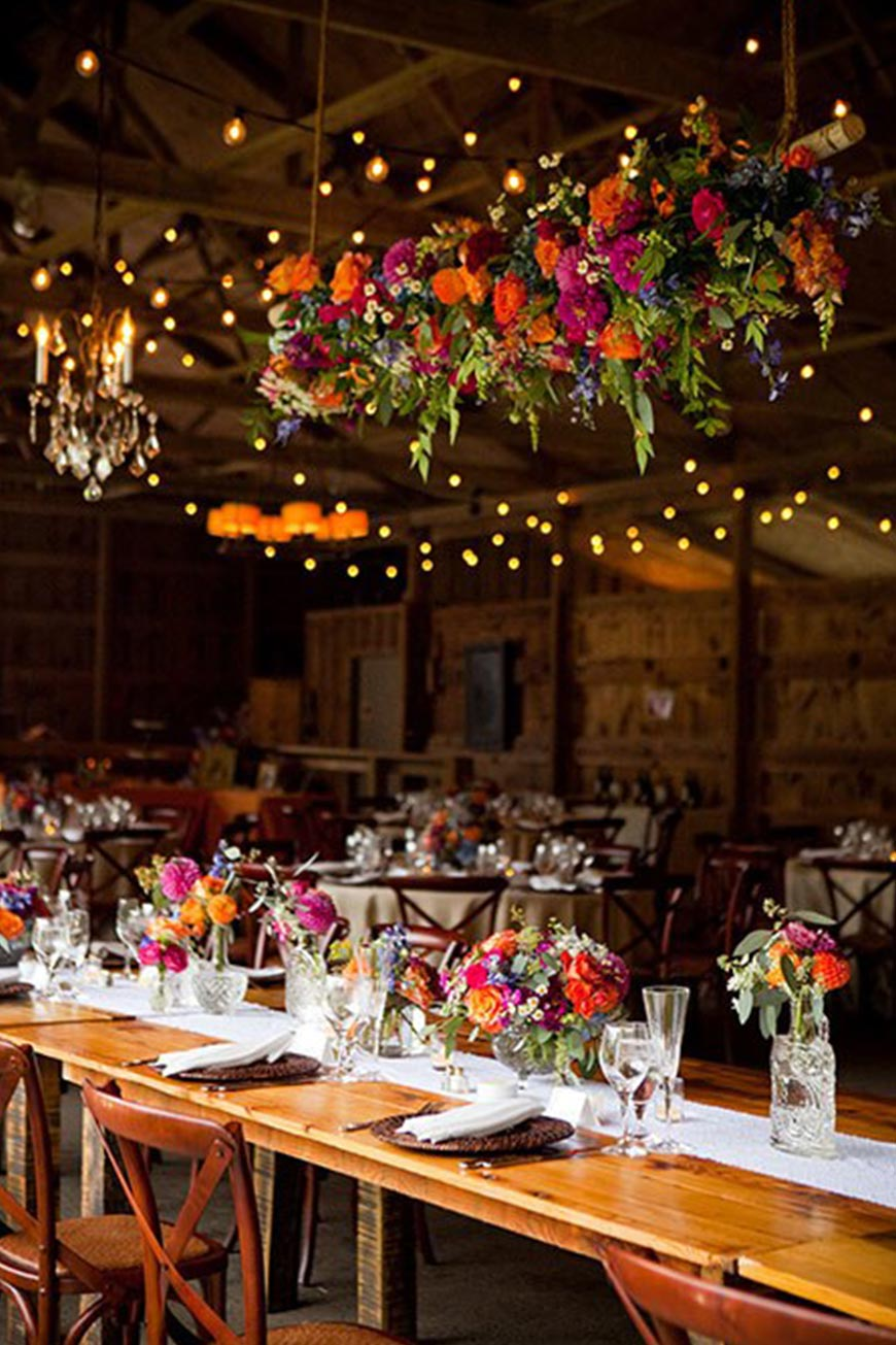 Wedding Ideas By Colour: Orange Wedding Decorations - Flowers | CHWV