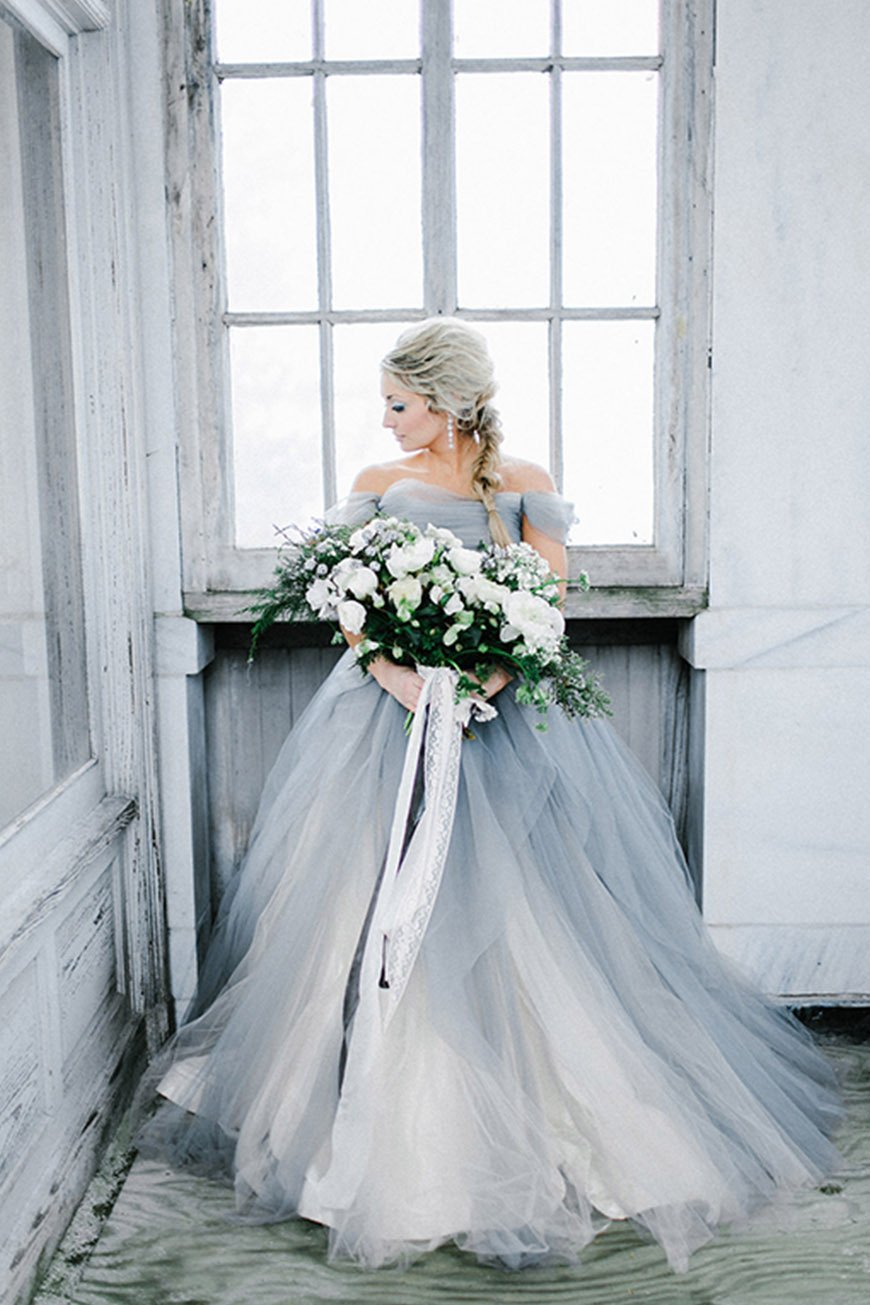 Wedding Ideas By Pantone Colour: Harbor Mist - Wedding dress | CHWV