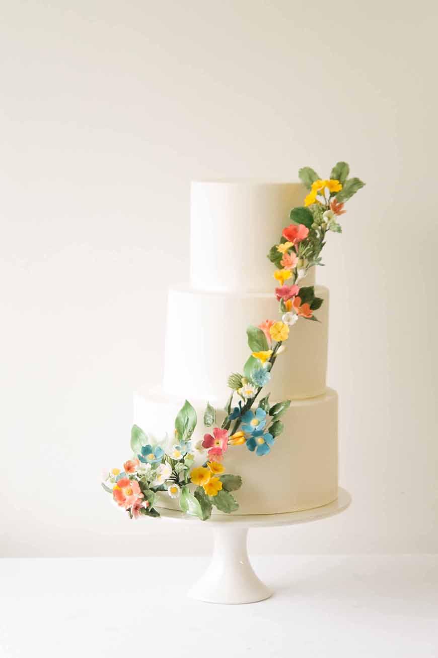 Orange Wedding Cakes Wedding Ideas By Colour Chwv