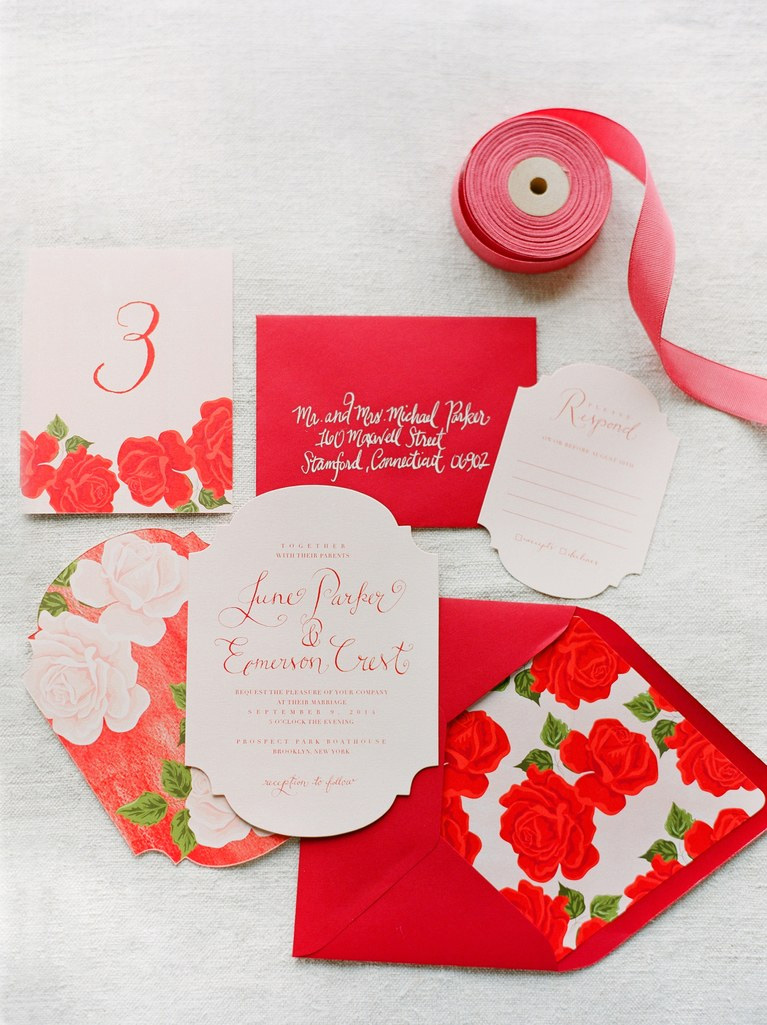 Wedding Ideas By Pantone Colour: Cherry Tomato - Invites | CHWV