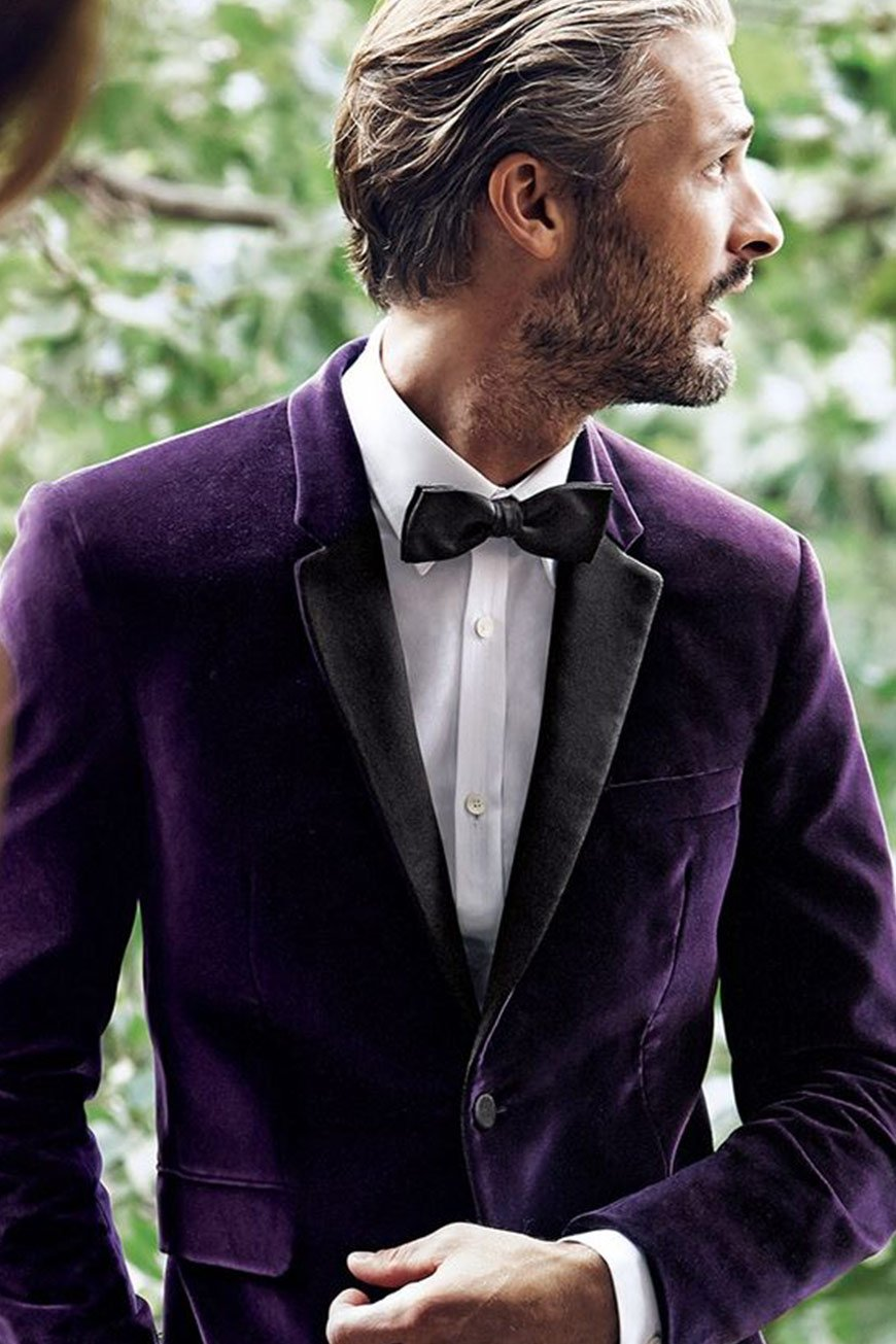 Wedding Ideas By Colour: Purple Wedding Suits And Accessories | CHWV