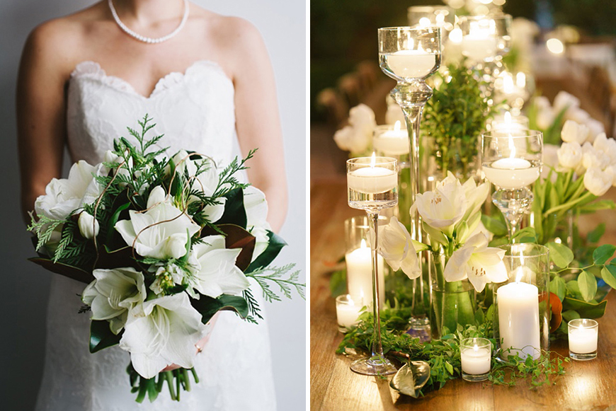 Wedding Ideas By Colour: White Wedding Flowers - Amaryllis | CHWV
