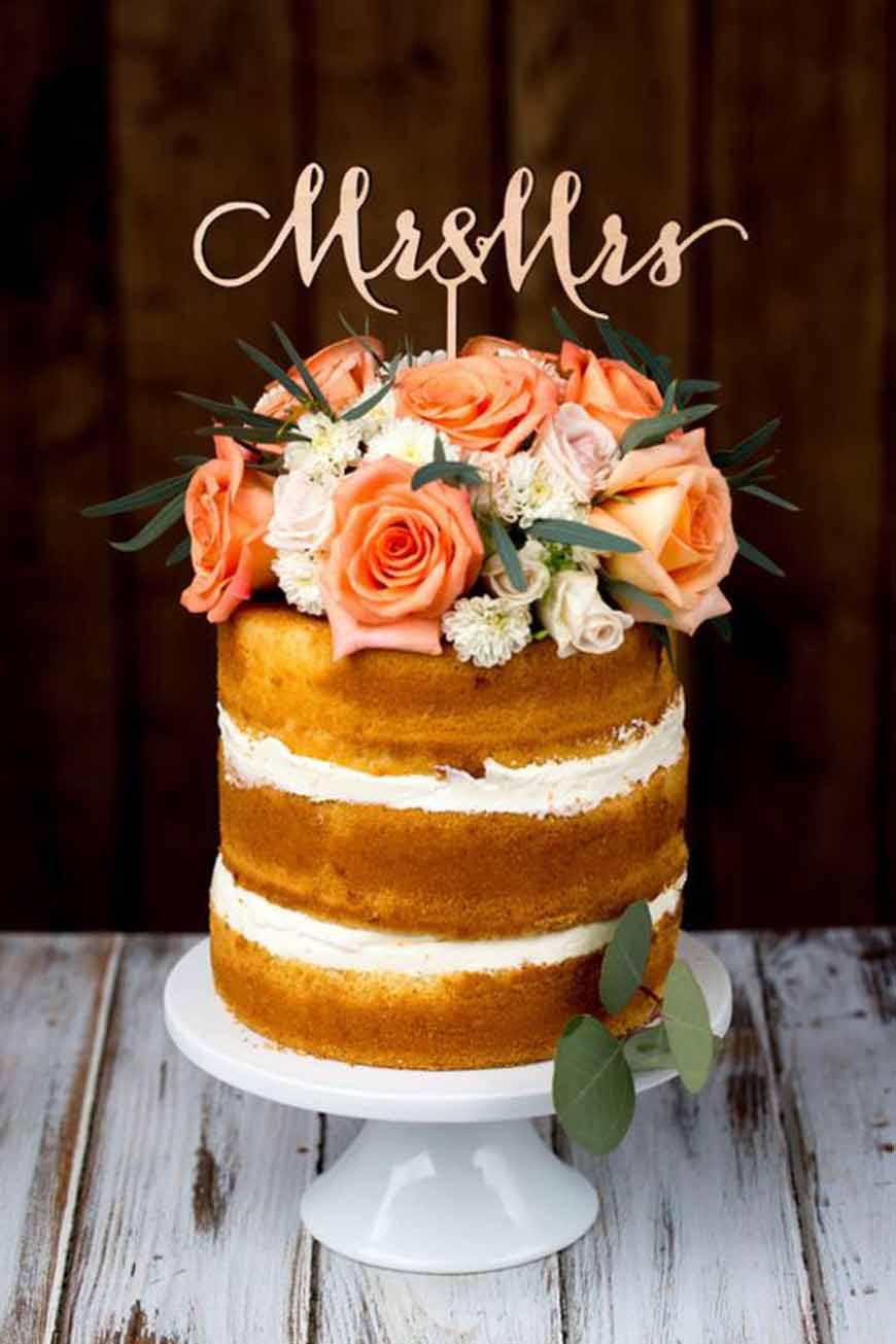 Wedding Ideas By Colour: Orange Wedding Cakes - Cool and quirky | CHWV