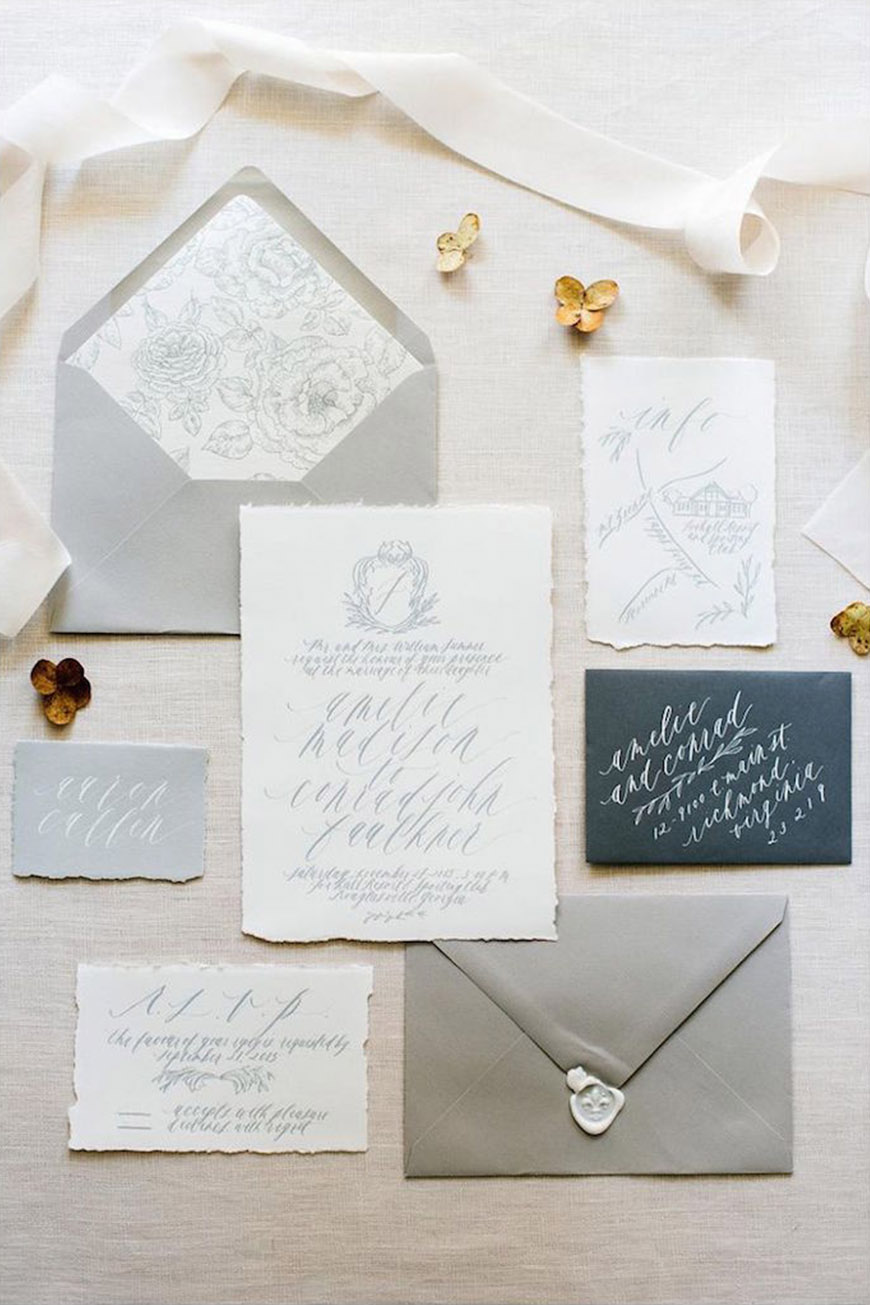 Wedding Ideas By Pantone Colour: Harbor Mist - Wedding Invites | CHWV