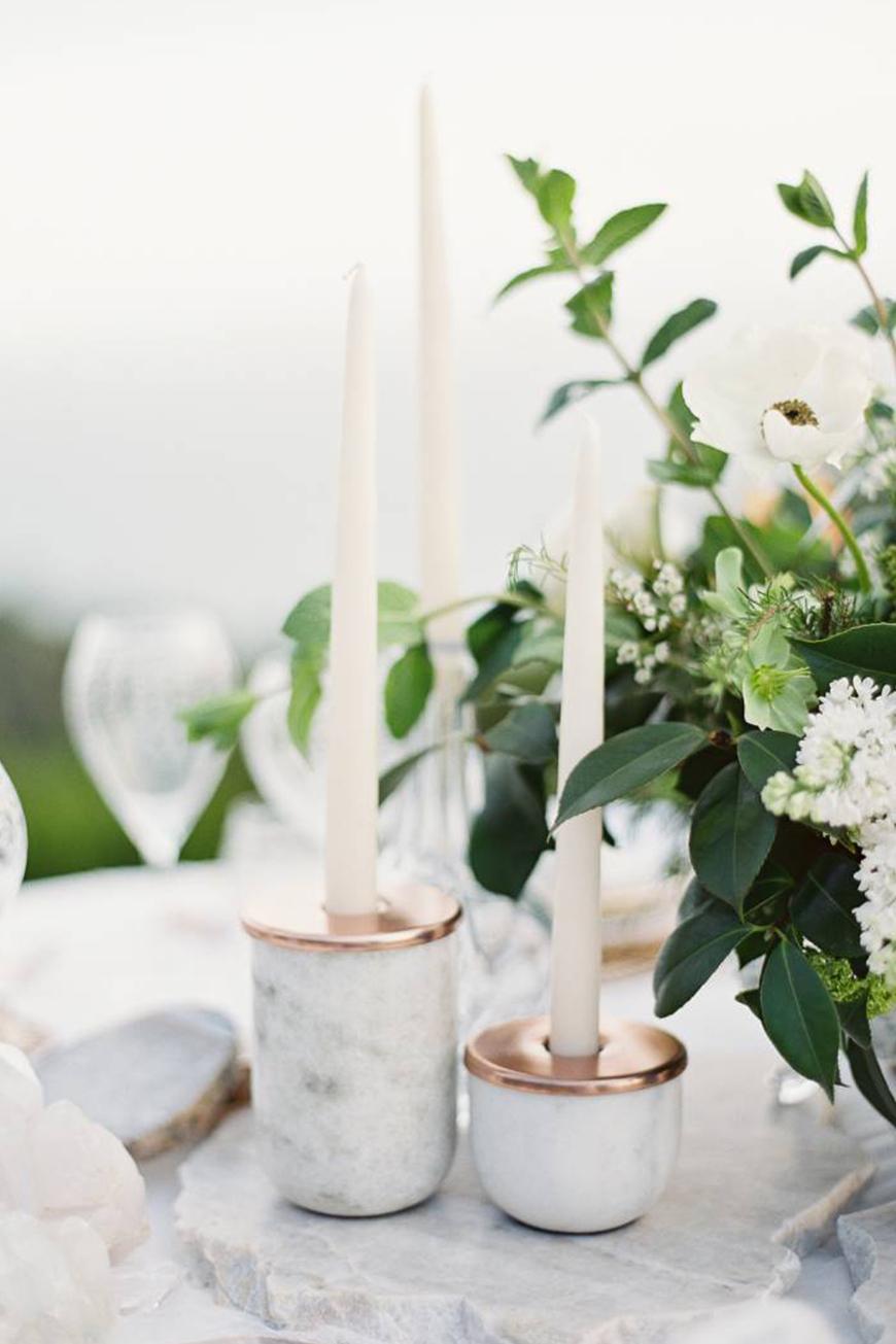Wedding Ideas By Colour: Marble Wedding Decorations | CHWV