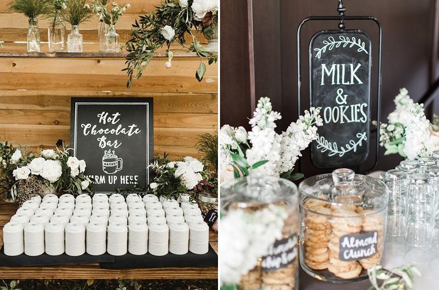 Exciting Evening Wedding Food Ideas - Hot chocolate | CHWV