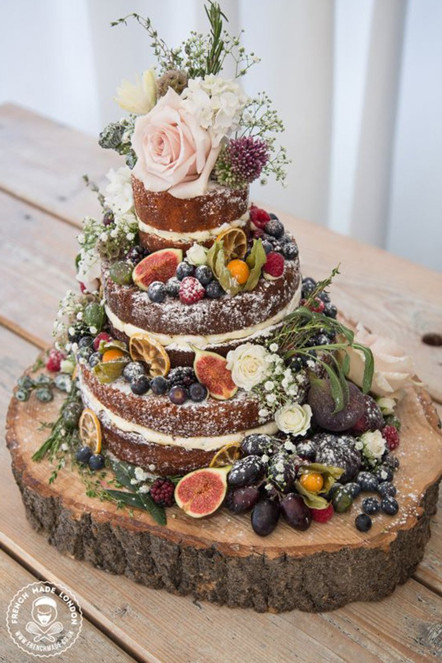 Wedding Ideas By Colour: Autumnal Wedding Cakes - Naked cakes | CHWV