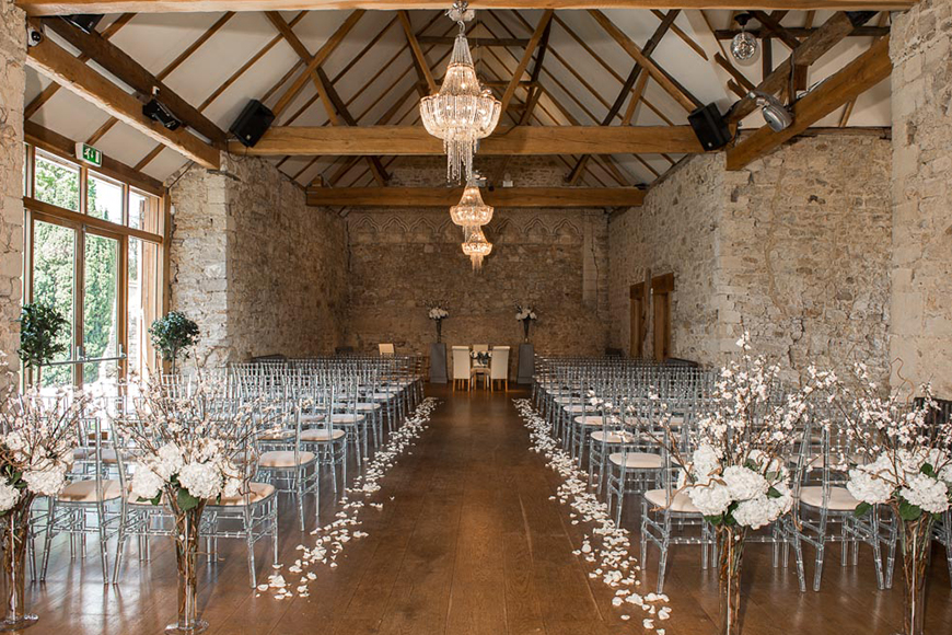 11 Romantic Country Wedding Venues You'll Fall In Love With - Notley Abbey | CHWV