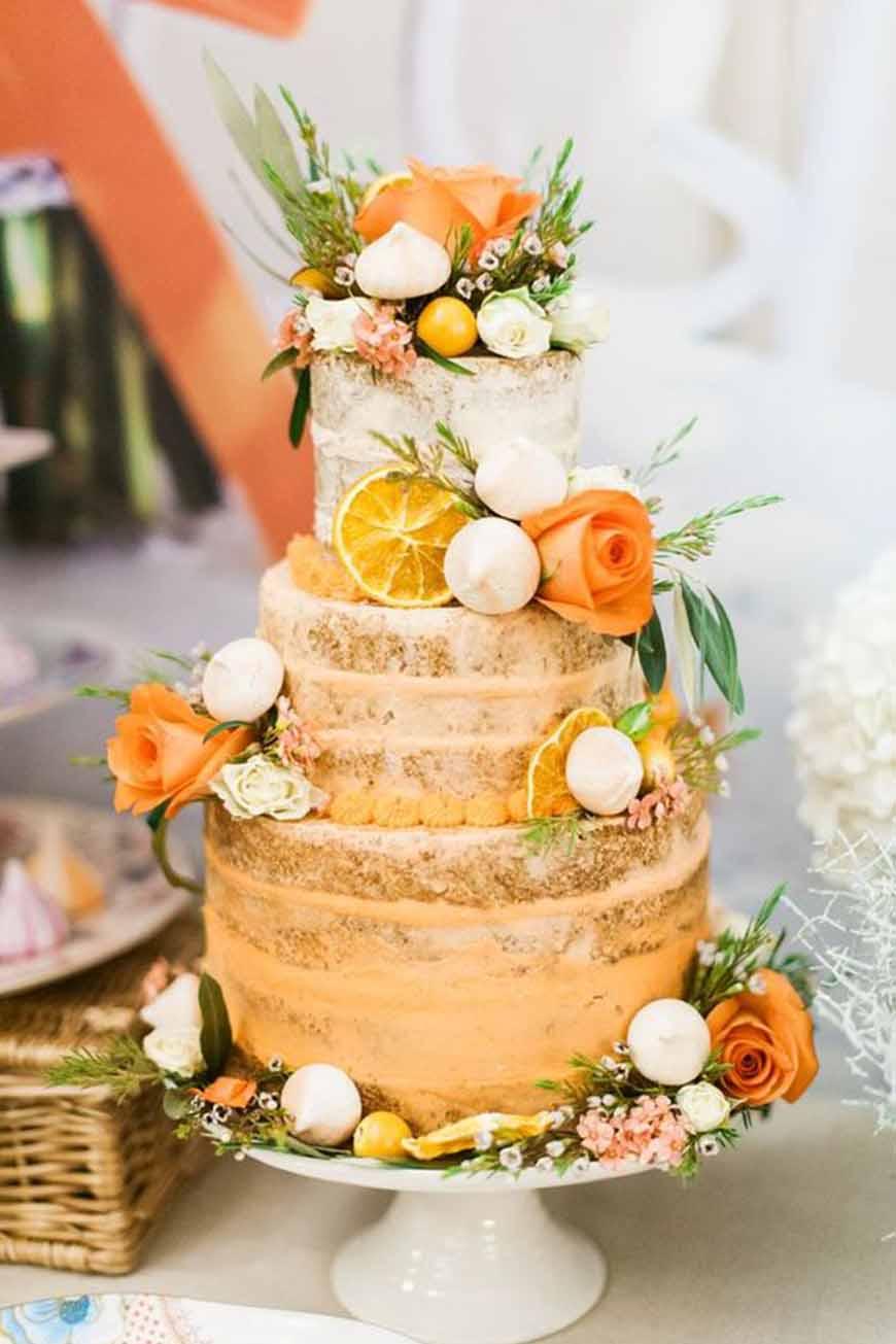Orange Wedding Cakes | Wedding Ideas By Colour | CHWV