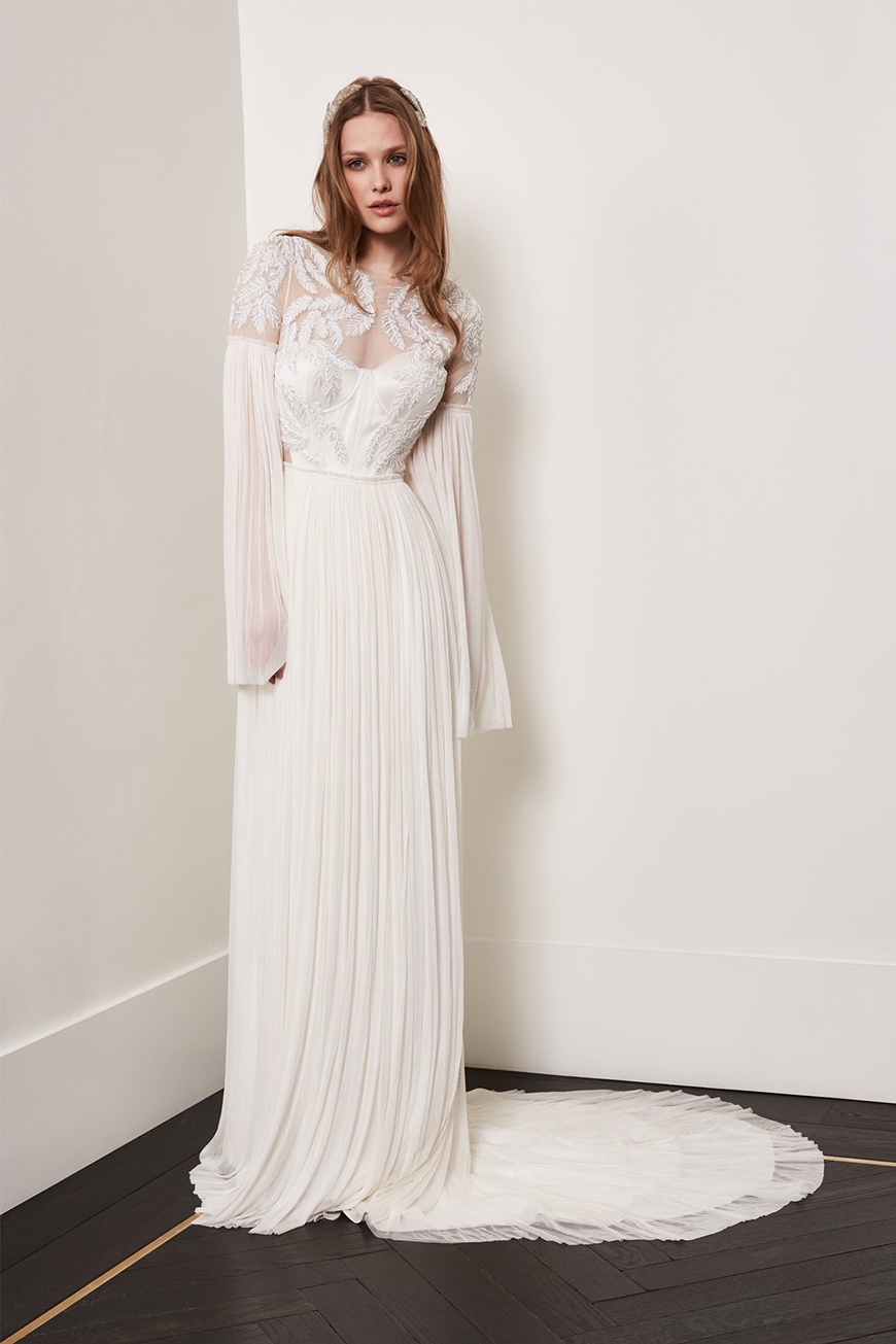 A Closer Look At Amanda Wakeley Wedding Dresses - Evangeline | CHWV
