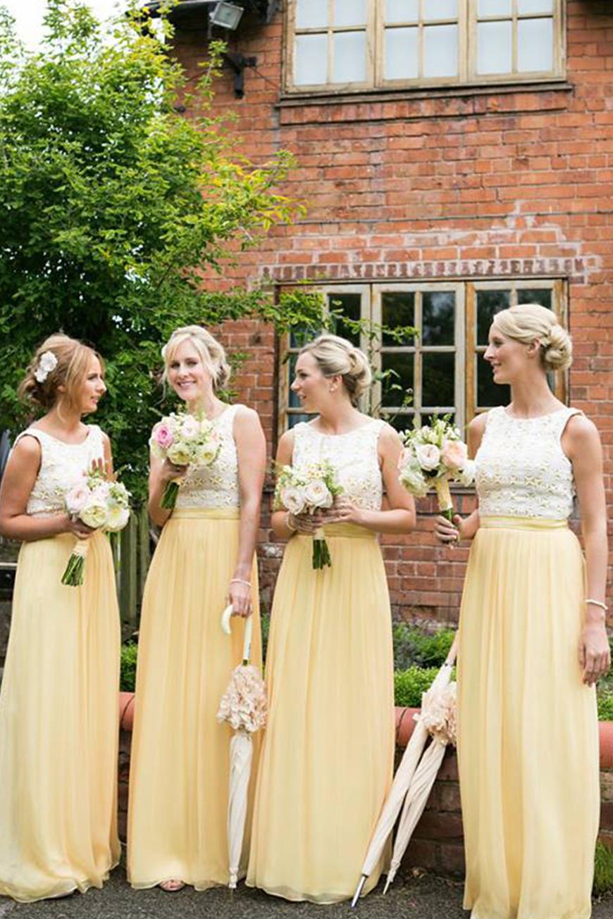 Wedding Ideas By Colour: Pastel Bridesmaid Dresses - Sunshine shades | CHWV