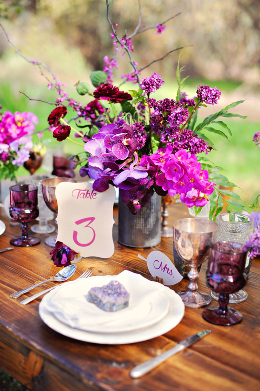 Wedding Ideas By Pantone Colour: Spring Crocus - Decorations and details | CHWV
