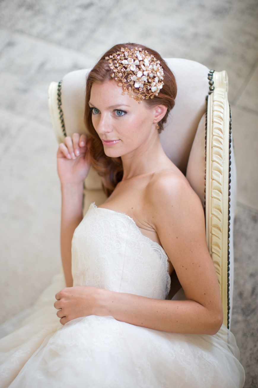 Wedding Ideas By Colour: Gold Wedding Accessories - Hair accessories | CHWV