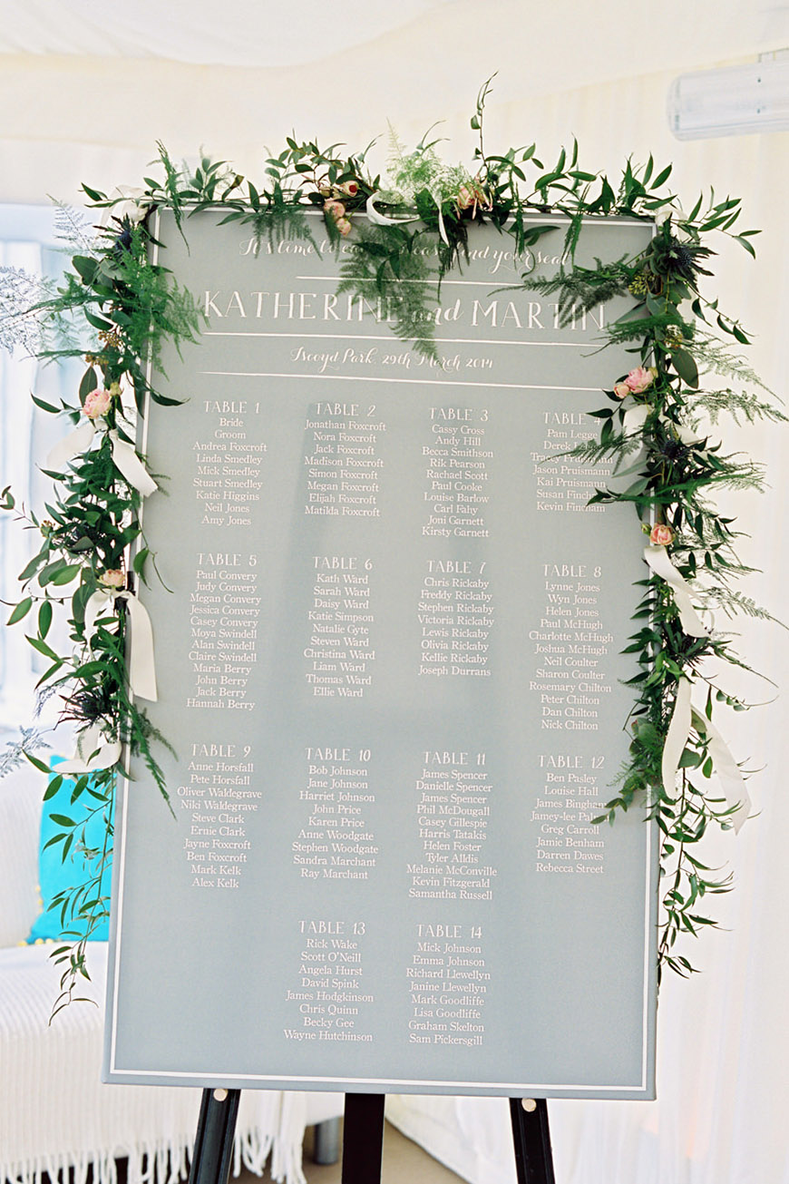 Wedding Ideas By Pantone Colour: Harbor Mist - Table plan | CHWV