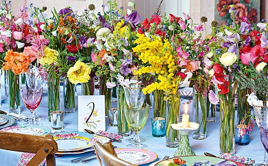 Wedding Ideas By Colour: Bright Wedding Flowers - Floral decor   CHWV