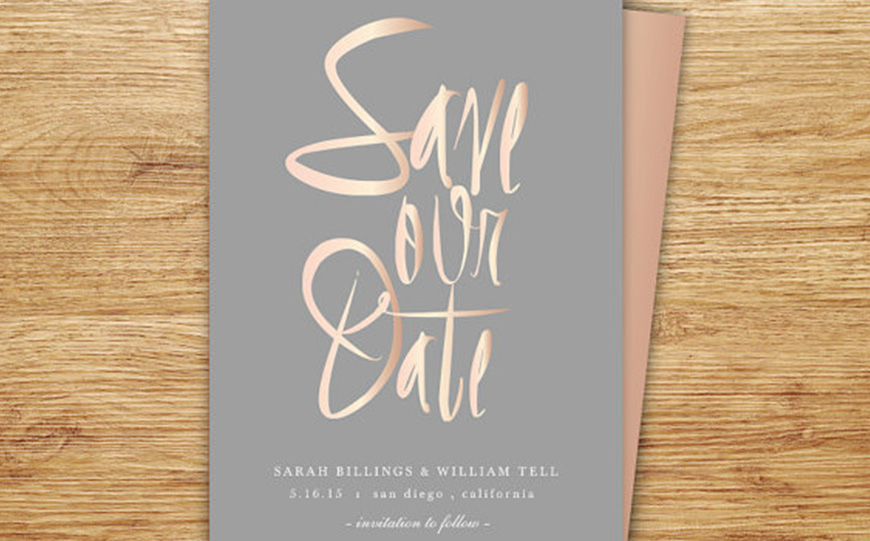 Wedding Ideas By Colour: Grey Wedding Invitations - A touch of shimmer | CHWV