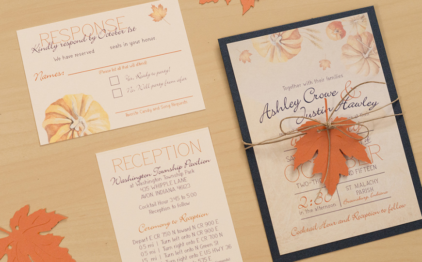 Wedding Ideas By Colour: Orange Wedding Decorations - Stationery | CHWV