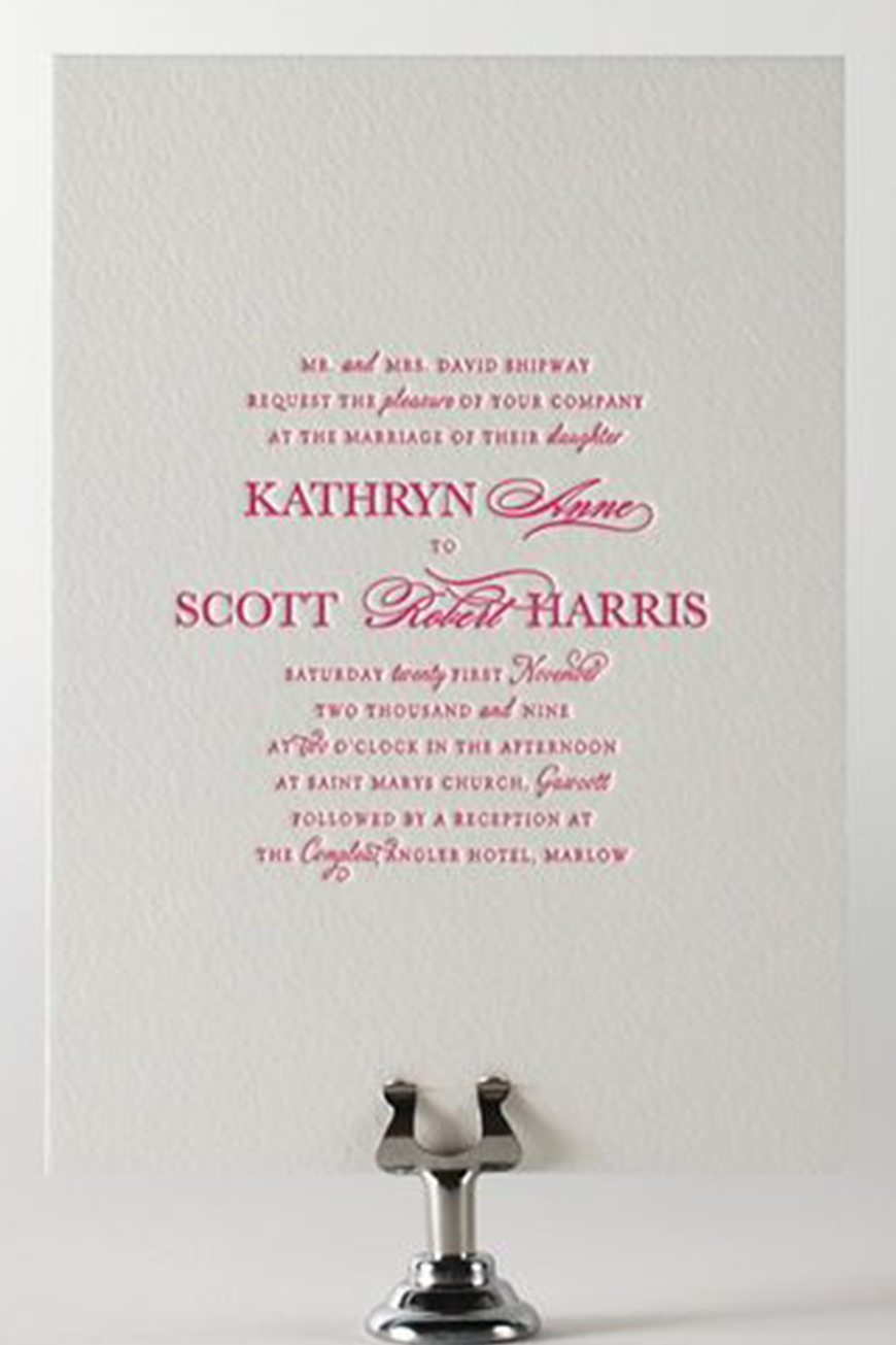 Bright Wedding Invitations | Wedding Ideas By Colour | CHWV