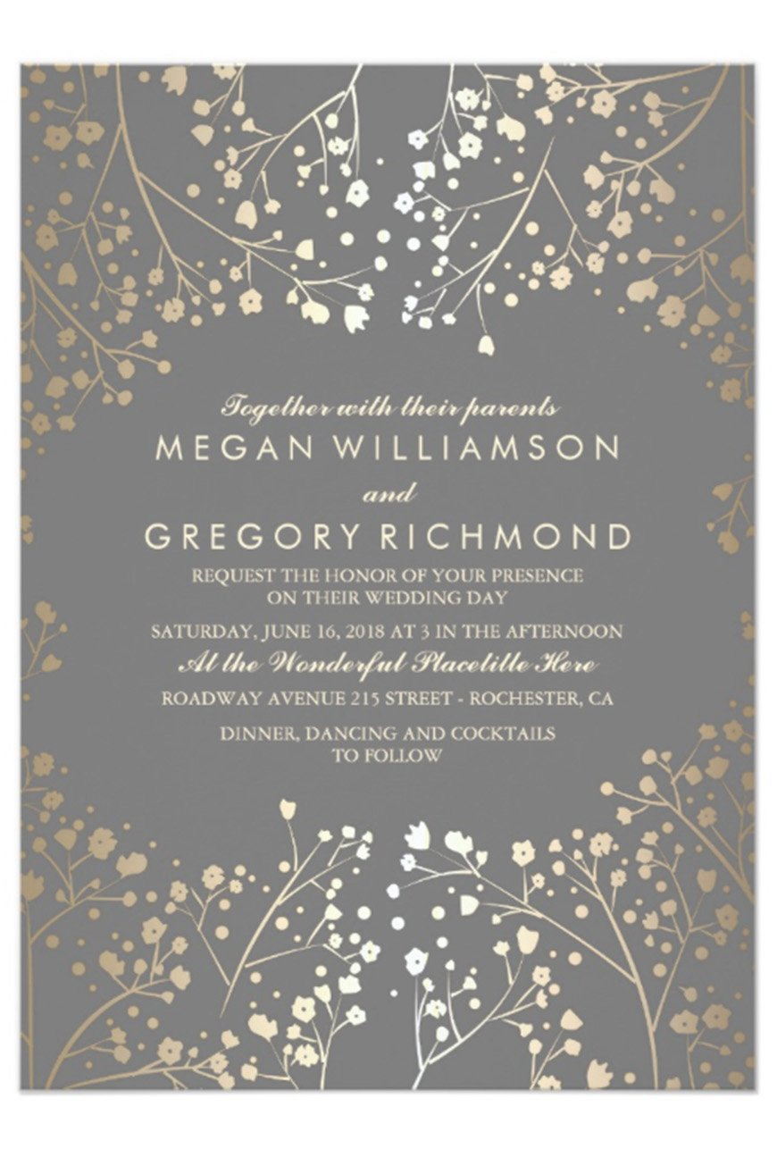 Grey Wedding Invitations | Wedding Ideas By Colour | CHWV