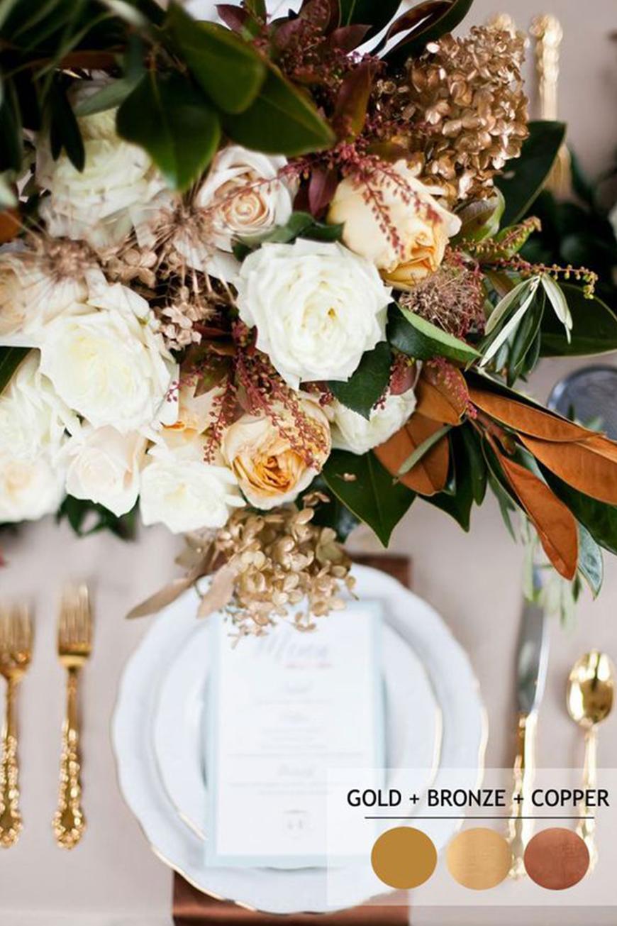 Bronze Wedding Theme Wedding Ideas By Colour Chwv