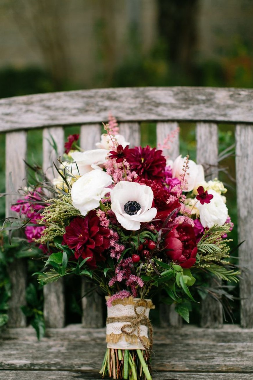Wedding Ideas By Colour: Burgundy Wedding Theme | CHWV