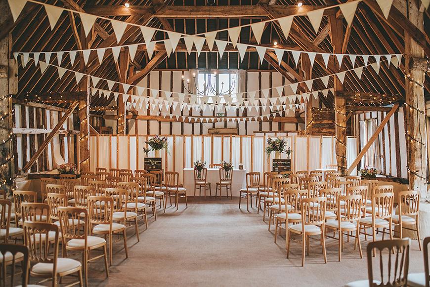 15 Barn Wedding Venues in South East England - Clock Barn | CHWV