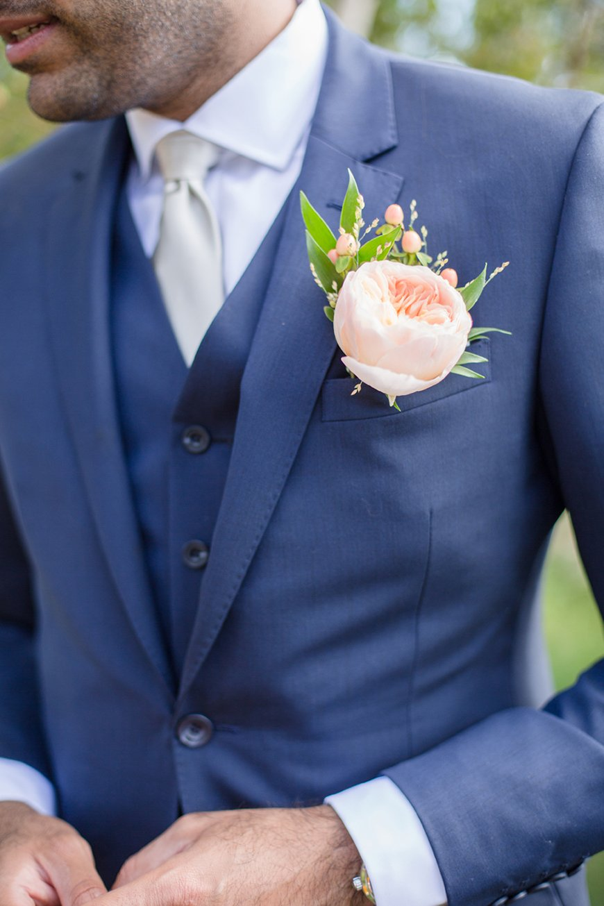 6e0368f602c8 Wedding Ideas By Colour: Pink Groom's Accessories - Buttonhole | CHWV