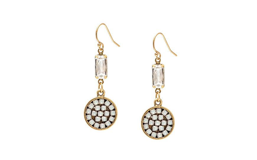 Wedding Ideas By Colour: Gold Wedding Accessories - Beautiful earrings | CHWV