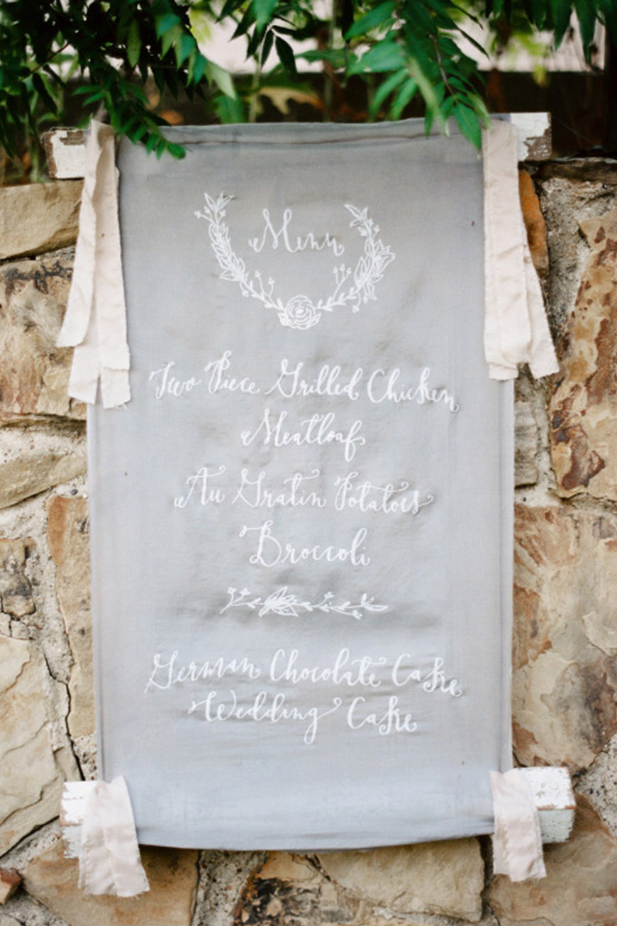 Wedding Ideas By Pantone Colour: Harbor Mist - Wedding menu | CHWV