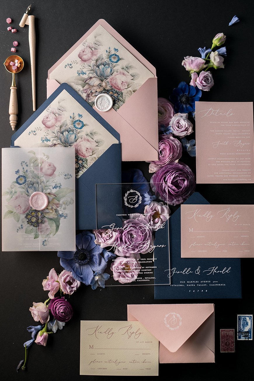 Wedding Ideas By Colour: Pink Wedding Invitations - Colourful creations | CHWV