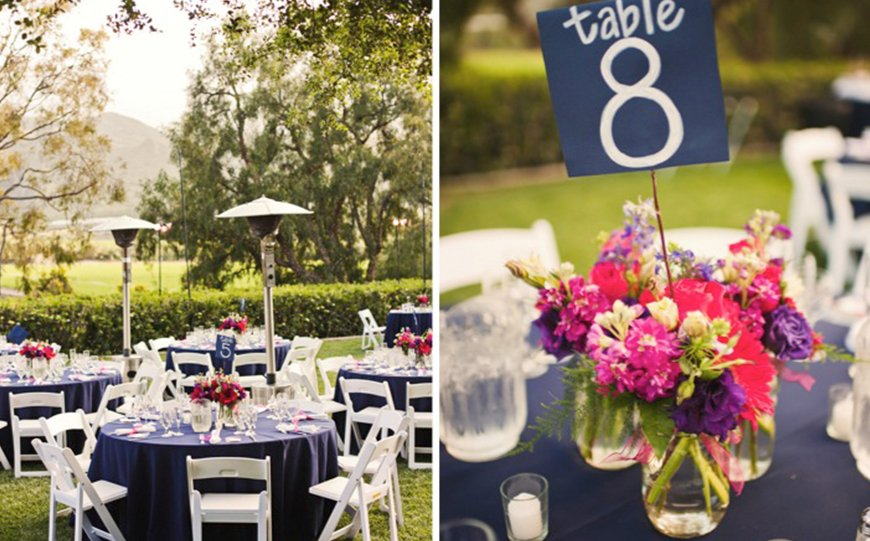 Wedding Ideas By Colour: Navy and Blush Wedding Theme - Delightful decor | CHWV