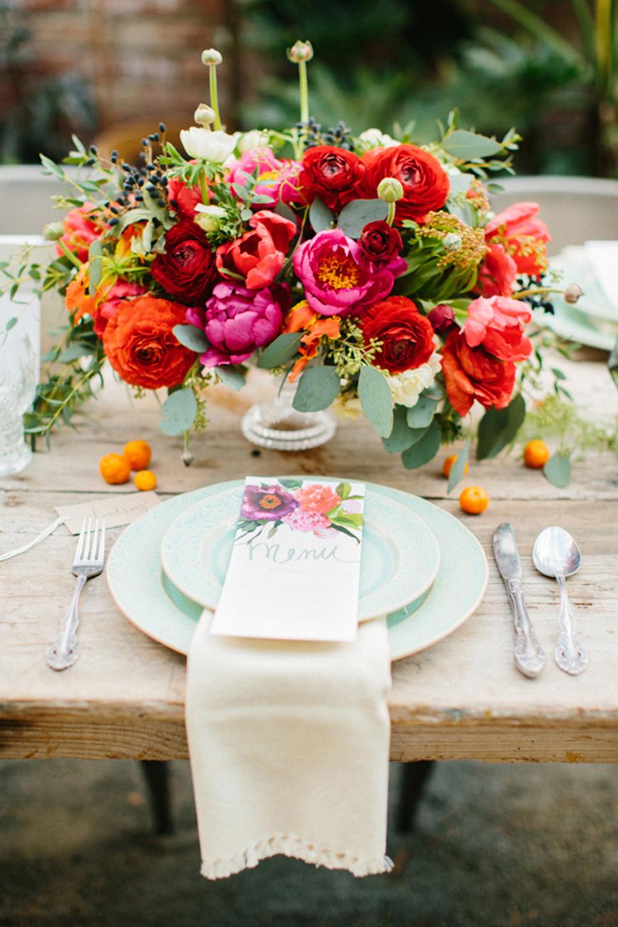 Wedding Ideas By Colour: Bright Wedding Flowers - Floral decor | CHWV