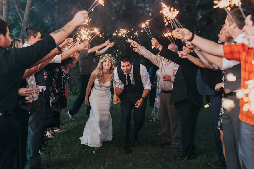 17 Ways To Have a Festival Wedding Theme - Sparkler style | CHWV
