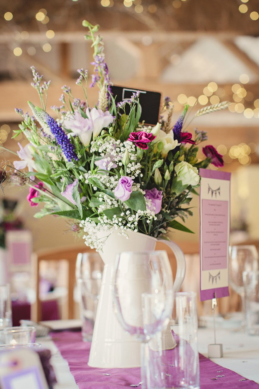 Purple wedding decorations ideas by colour chwv