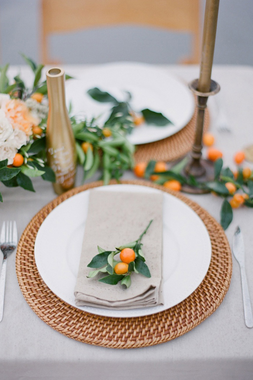 Wedding Ideas By Colour: Orange Wedding Decorations - Napkin berries | CHWV