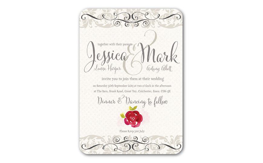 Wedding Ideas By Colour: Grey Wedding Invitations - All about colour | CHWV
