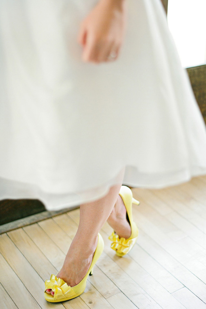 Wedding Ideas By Colour: Lemon Yellow Wedding Ideas - Shoes | CHWV