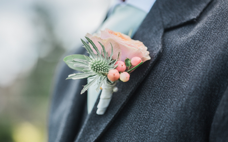 Wedding Ideas By Colour: Pink Groom's Accessories - Buttonhole | CHWV