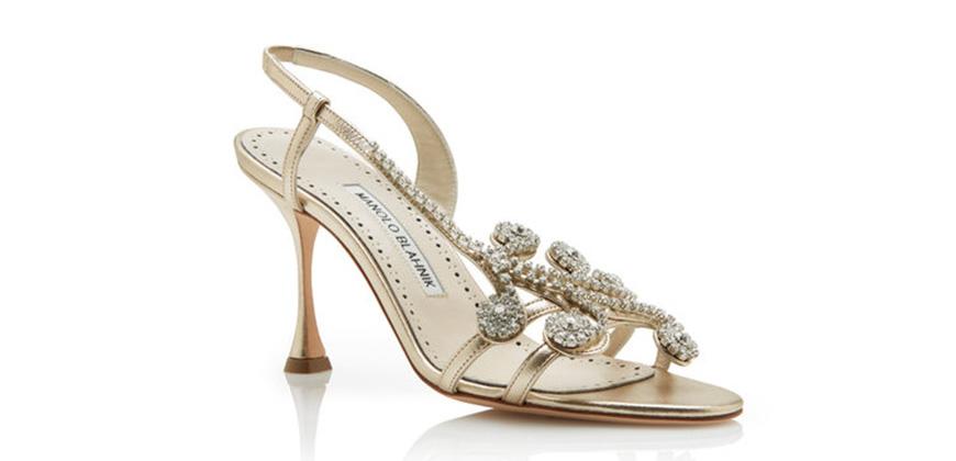 Wedding Ideas By Colour: Metallic Wedding Shoes - Glamorous gold | CHWV