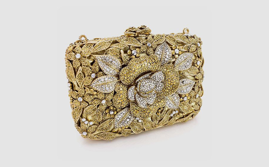 Wedding Ideas By Colour: Gold Wedding Accessories - Cute clutch | CHWV